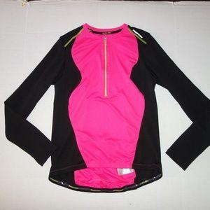 Nishiki womens medium cycling shirt Pink Black